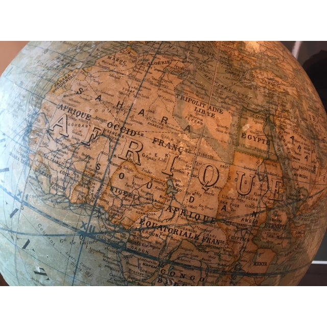 Plaster Early 20th Century French Plaster Globe For Sale - Image 7 of 10