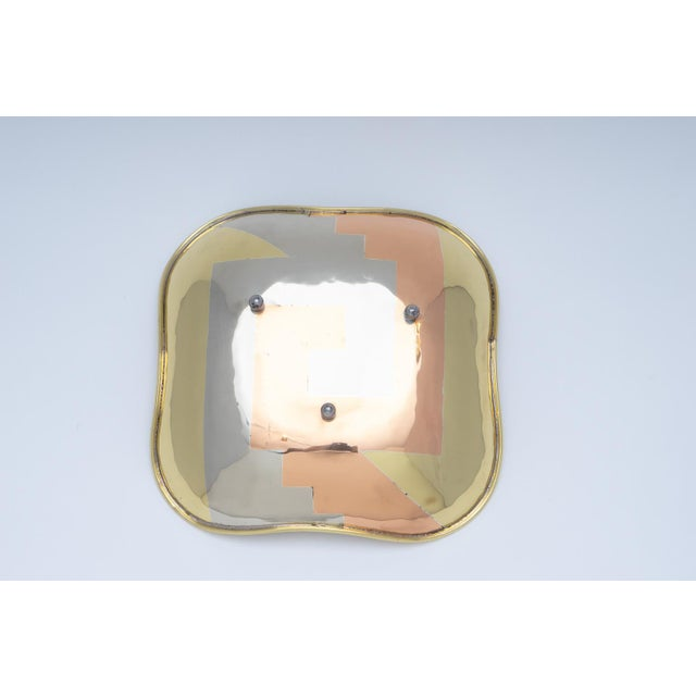 Gold Mixed Metal Dish by Los Costillos 1960s For Sale - Image 8 of 10