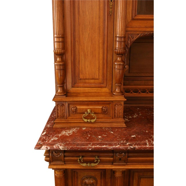 1900 - 1909 1900 French Renaissance Carved Buffet For Sale - Image 5 of 8