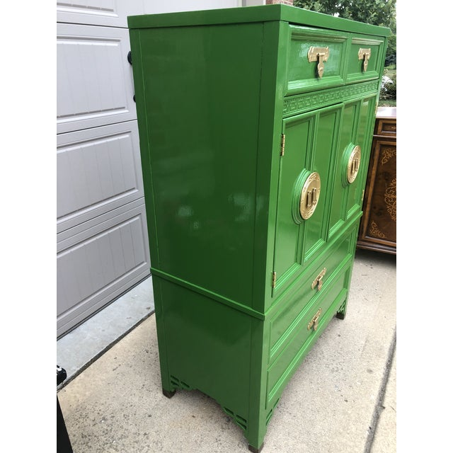 Mid 20th Century Vintage Chinoiserie Style Dresser by Dixie Furniture For Sale - Image 5 of 9