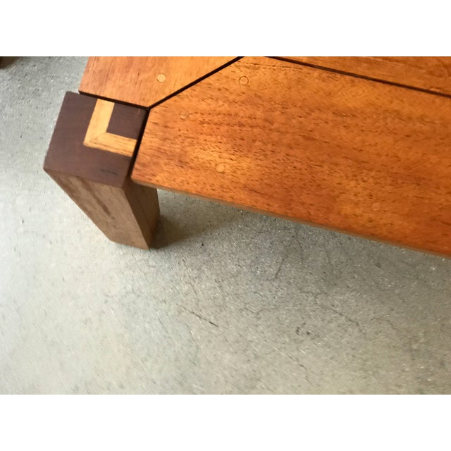 Early 21st Century Rob Edley Welborn Prototype Square Coffee Table in Spanish Cedar For Sale - Image 5 of 11
