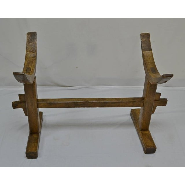 Huge Fruitwood Trog or Dough Bowl on Oak Stand For Sale In Washington DC - Image 6 of 8