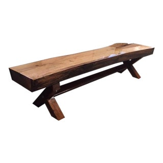 Live Edge Oak Bench For Sale