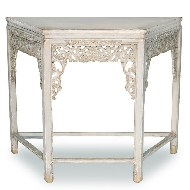 Sarreid Ltd. Replica Carving Wall Table - Image 2 of 3