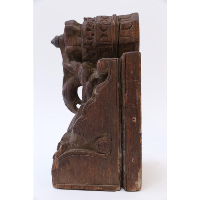 19th century architectural fragment hand-carved in India. Suited for a shelf accessory, bookend or desktop accent.