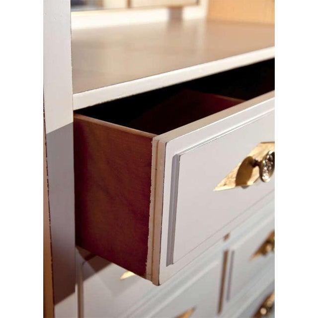 White Grosfeld House French Empire Vanity Dresser For Sale - Image 8 of 10