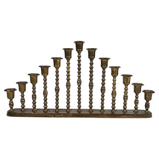 Graduated Brass Candlestick Stand For Sale