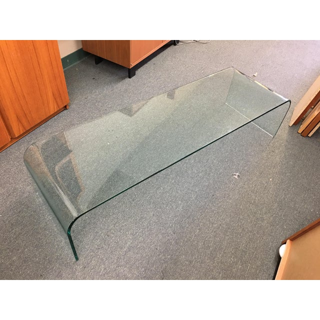 Vintage Waterfall Glass Coffee Table - Image 2 of 7