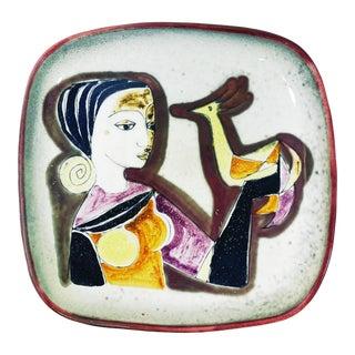 1960s Vintage Scandinavian Mid-Century Modern Plate For Sale