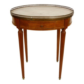 French Marble-Top Bouillotte Table For Sale