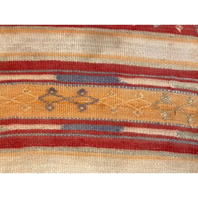 Vintage Moroccan Tribal Kilim Rug, circa 1960 For Sale - Image 9 of 13