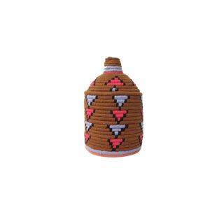'Lavender Tea' Moroccan Woven Bread Basket