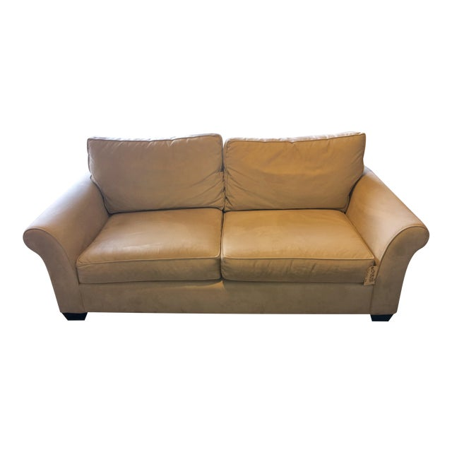 Pottery Barn Furniture Usa: Pottery Barn Suede Sofa