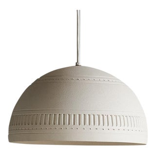 Bitossi Style Ivory Ceramic Pendant Light For Sale