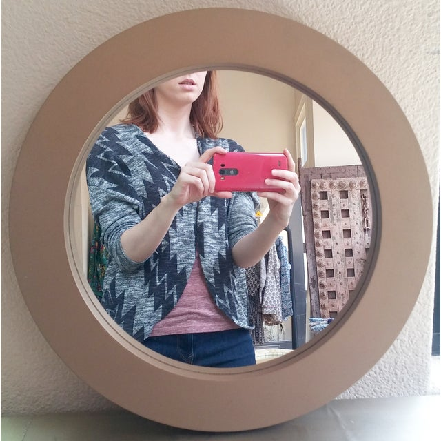 Round Gold Mirror - Image 2 of 3