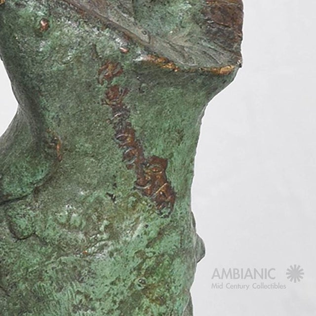 Mid-Century Modern Abstract Bronze & Marble Sculpture For Sale In San Diego - Image 6 of 8
