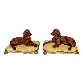 Pair of Italian Dogs for Chelsea House For Sale