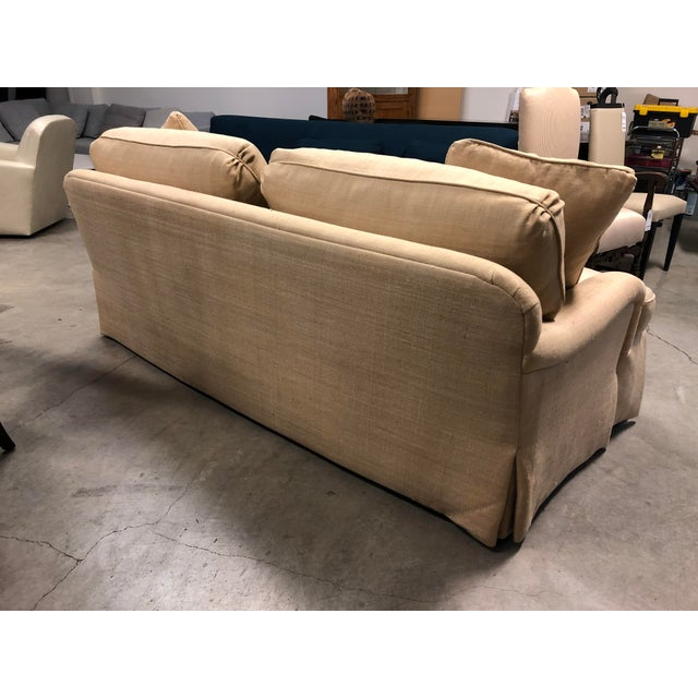 Century Furniture English Arm Sofa in Honey Silk For Sale In San Francisco - Image 6 of 7