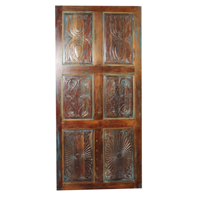 19th Century Vintage Farmhouse Door For Sale - Image 5 of 5