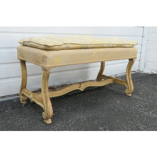 French Distressed Painted Vanity Bench Stool Preview