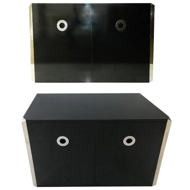 Mario Sabot Black Laminate Sideboards - A Pair For Sale In Miami - Image 6 of 6