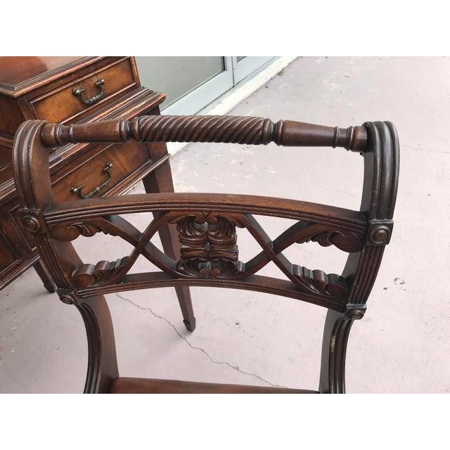 Vintage Kittinger Harpsichord Desk With Chair For Sale - Image 10 of 11