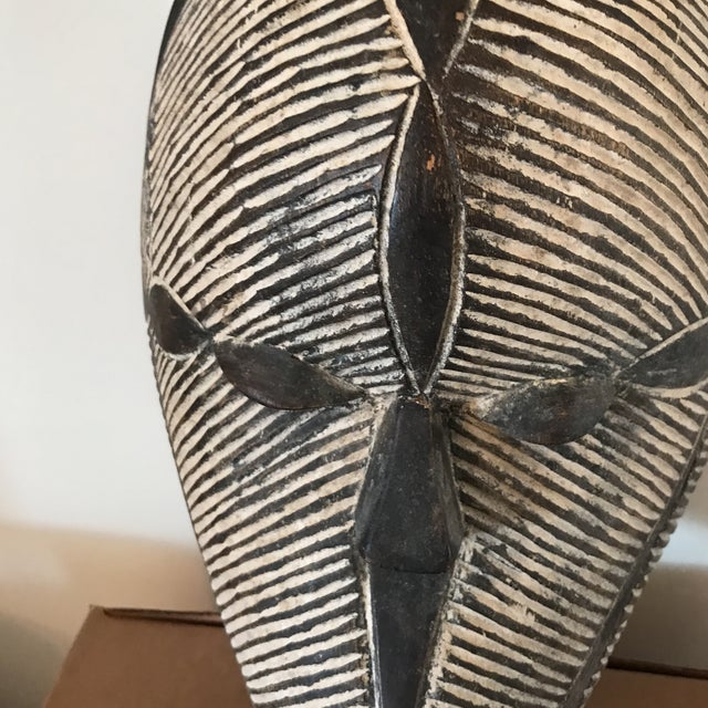 Carved Wooden African Mask - Image 3 of 5