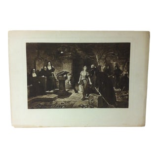 "Vintage Print on Paper, ""The Trial"" -- Artist Unknown, Circa 1900 For Sale"