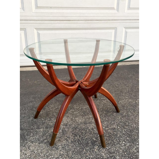 Mid-Century Modern Teak Spider Leg Table For Sale - Image 9 of 9