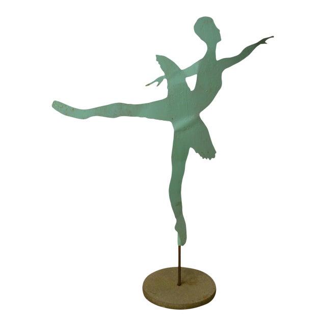 Mid Century Modern Large Dancing Ballerina Metal Garden Sculpture (B) For Sale