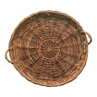 20th Century Country Romanian Gathering Basket For Sale