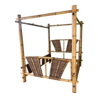 Queen Size Bamboo Canopy Bed For Sale