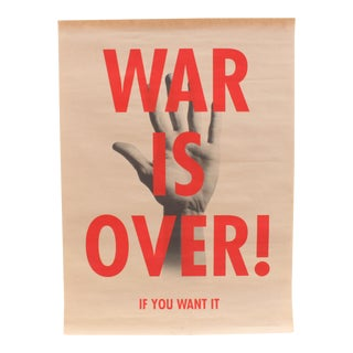Rex Ray Antiwar Screenprint Poster War Is Over Variation 2 For Sale