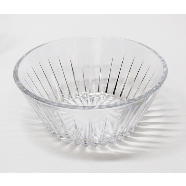 Val St Lambert Crystal Bowl & Plate Set - 4 For Sale - Image 5 of 9
