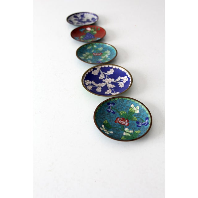 Antique Chinese Cloisonne Plates - Set of 5 - Image 5 of 8