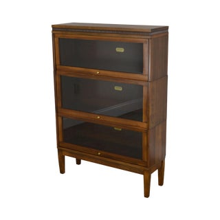 Lundstrom Antique 3 Stack Sectional Barrister Bookcase For Sale