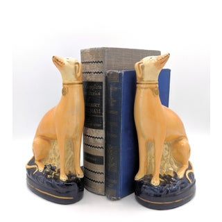 Early 20th Century Italian Borghese Whippet/ Greyhound Dog Bookends - a Pair Preview
