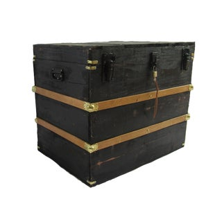 Rustic Farmhouse Style Wooden Storage Chest For Sale