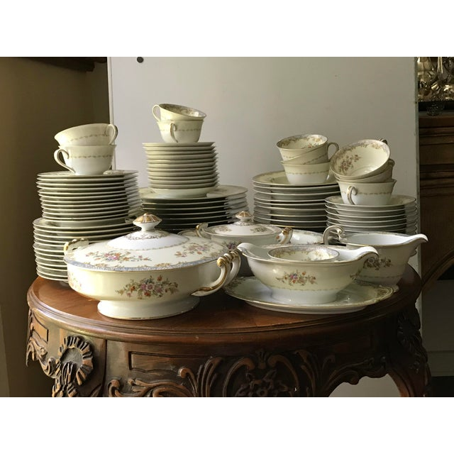 Ceramic Vintage Rare 1947(M)Naomi by Noritake China Dinnerware 96 Pieces- Service for 12/ Final Reduction For Sale - Image 7 of 9