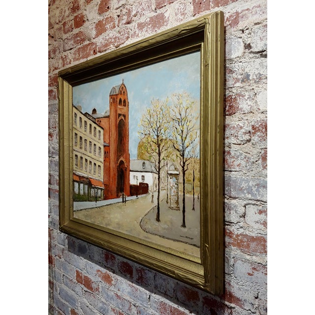 Canvas Louis Peyrat -Paris Street Scene - Oil Painting For Sale - Image 7 of 11