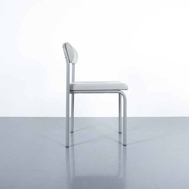 Lacquer One of Seven Ettore Sottsass Greek Chairs Grey Bieffeplast, Italy, 1980 For Sale - Image 7 of 13