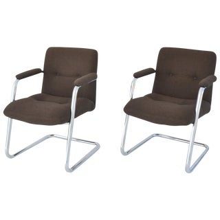 Pair of Cantilever Midcentury Lounge Chairs For Sale
