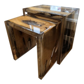 Made Goods Kas Wood & Acrylic Nesting Tables