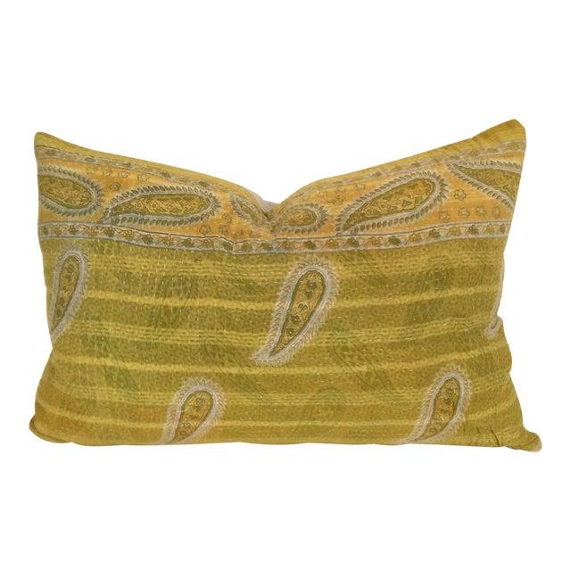 Vintage Kantha Quilt Pillow - Image 1 of 3
