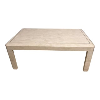 1990s Mid-Century Modern Maitland - Smith Sleek Tessellated Stone Coffee Table For Sale