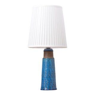 Danish Stoneware Table Lamp With Turquoise Glazing by Nils Kähler For Sale