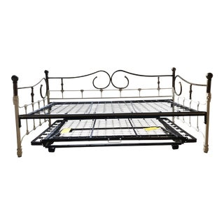 Antique Brass & White Daybed