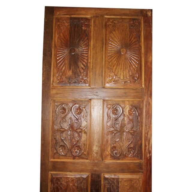 Antique Carved Barn Door For Sale - Image 4 of 6