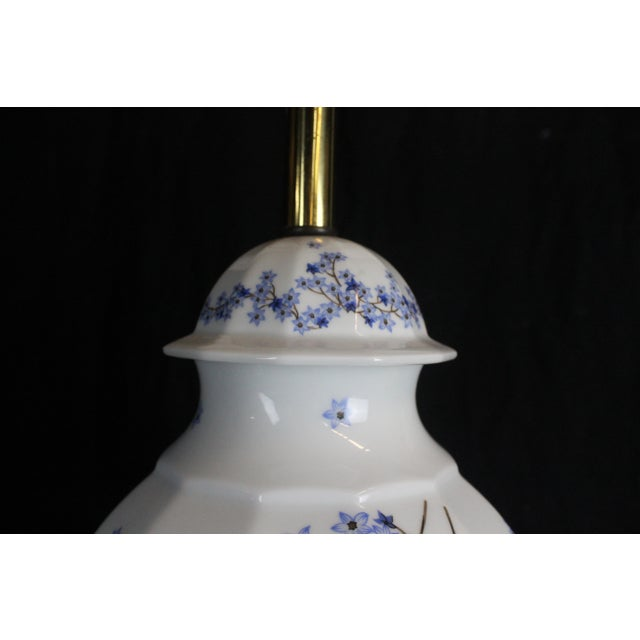Asian Vintage Chinese Floral Lamp For Sale - Image 3 of 11