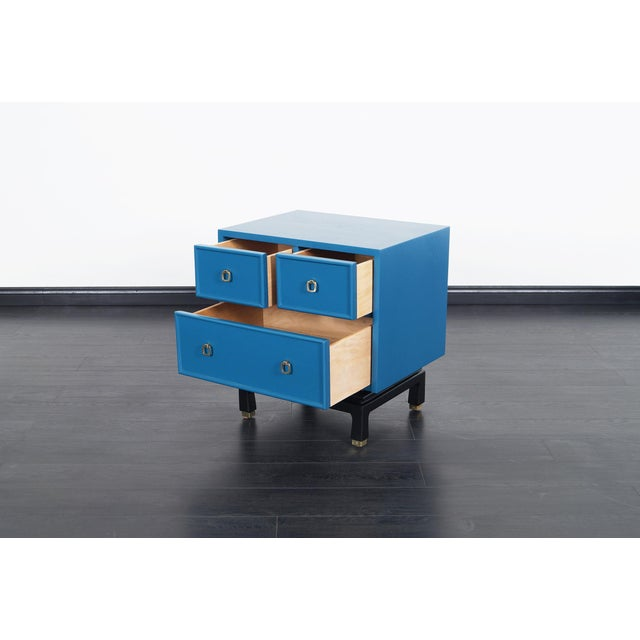 Vintage Lacquered Nightstands by American of Martinsville For Sale In Los Angeles - Image 6 of 8